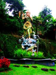 Goddess Statue at Tabanan Bali by CountezzDracula