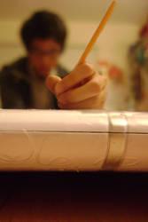 pencil trick by PoliteREBEL