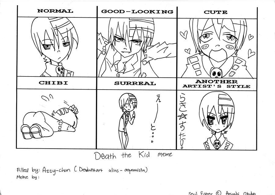 Death the Kid Style meme by aquamista