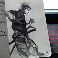 Musashi -Inktober2016 10.14 by nataliec567