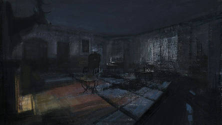 a study on Layers of Fear scene