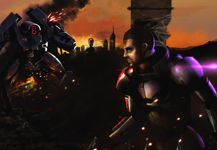 Mass effect - Shepard by Spankye