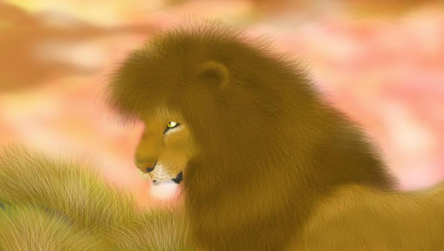 +++ Mis Fan arts, fan mades y otros personajes originales +++ :D  The_lion_by_melhellmoon-d5bc7ei