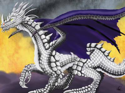 Silver Dragon by MelHellMoon
