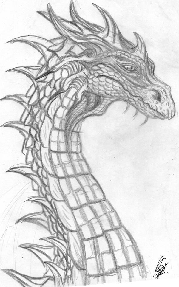 +++ Mis Fan arts, fan mades y otros personajes originales +++ :D  Dragon_s_head_by_melhellmoon-d6h8wzd