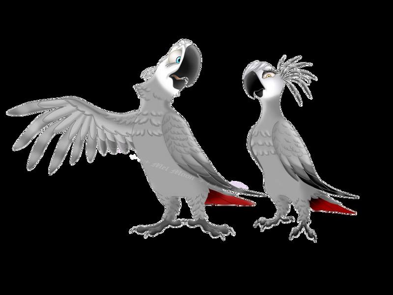 +++ Mis Fan arts, fan mades y otros personajes originales +++ :D  - Página 2 African_grey_parrots_by_melhellmoon-d71tlkz