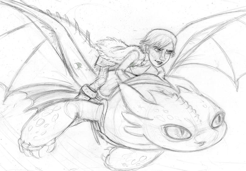 +++ Mis Fan arts, fan mades y otros personajes originales +++ :D  Hiccup_and_toothless_by_melhellmoon-d7a0ffn