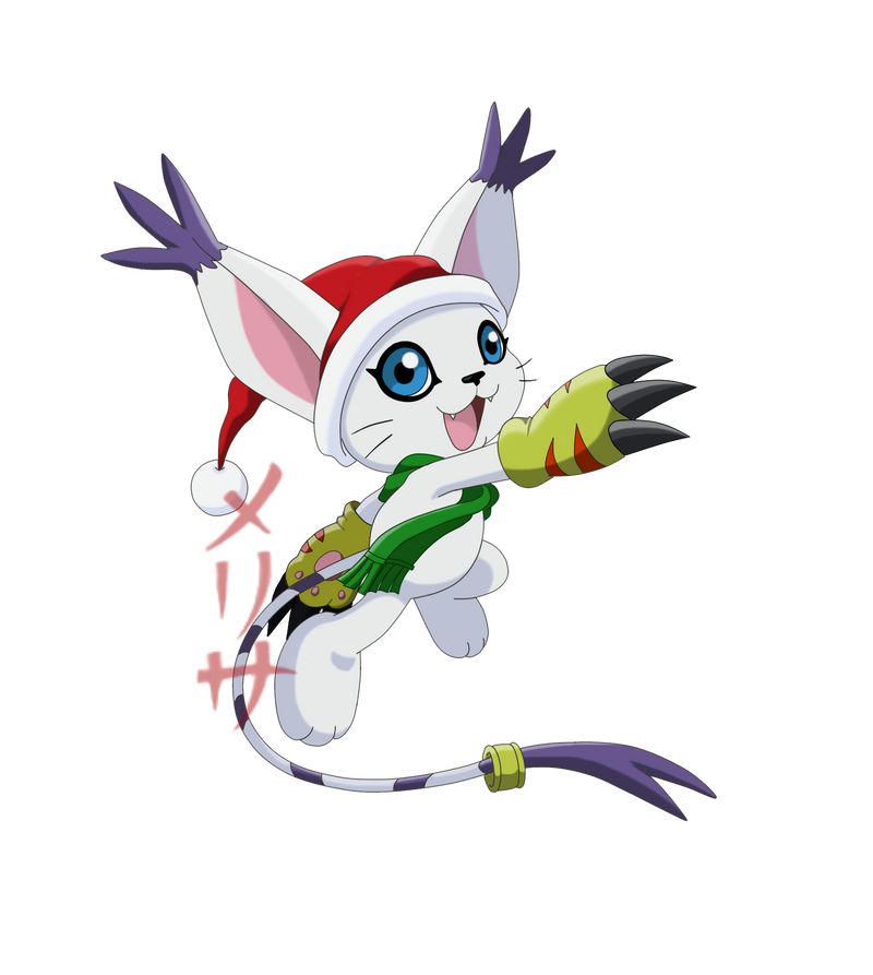 Merry Tailmon! by MelHellMoon