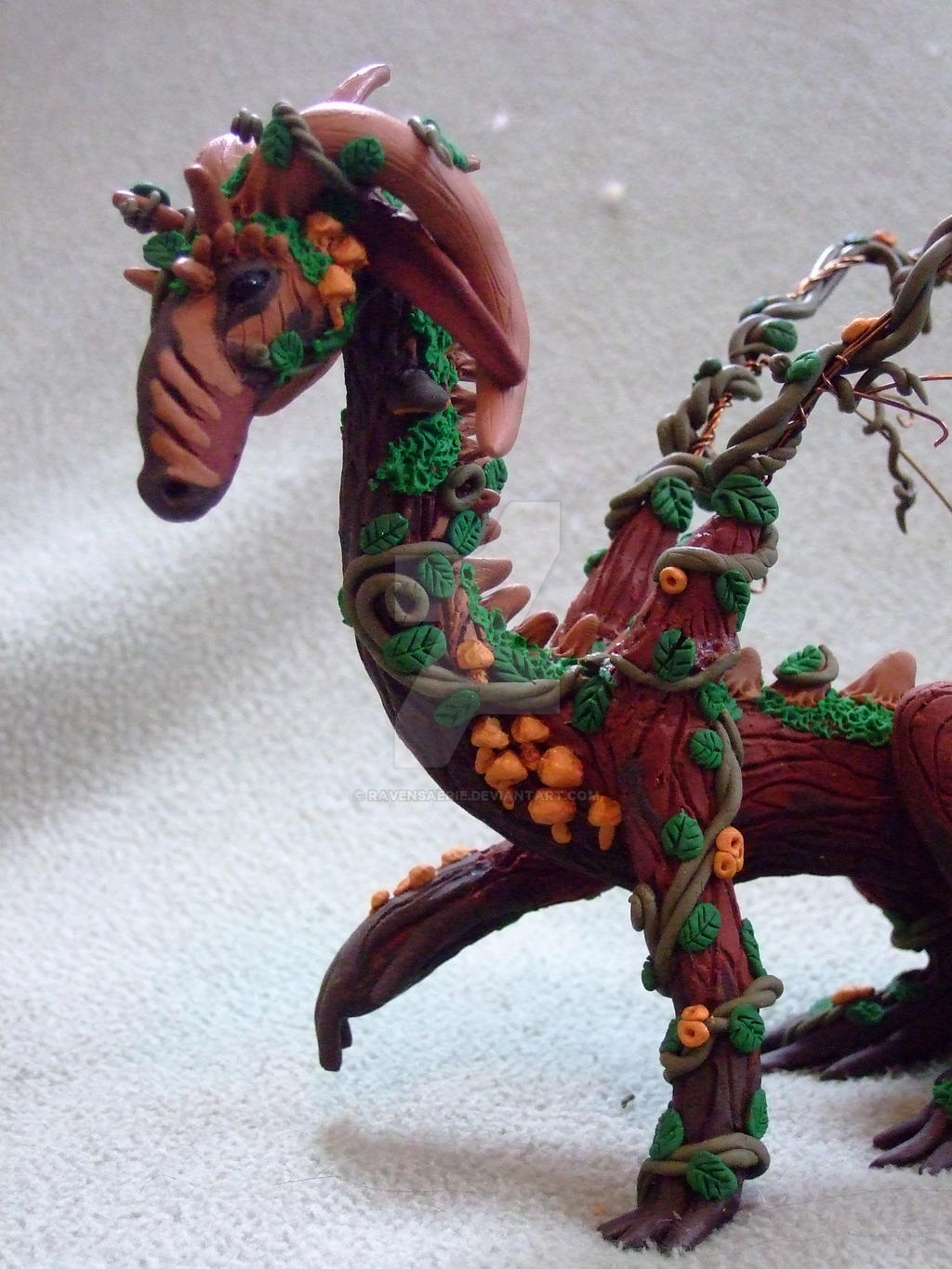 close up look of completed dragon by RavensAerie