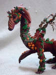 close up look of completed dragon