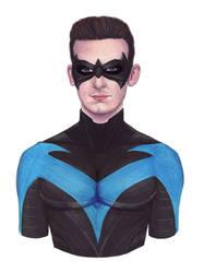 Nightwing Self Portrait by MattSimas