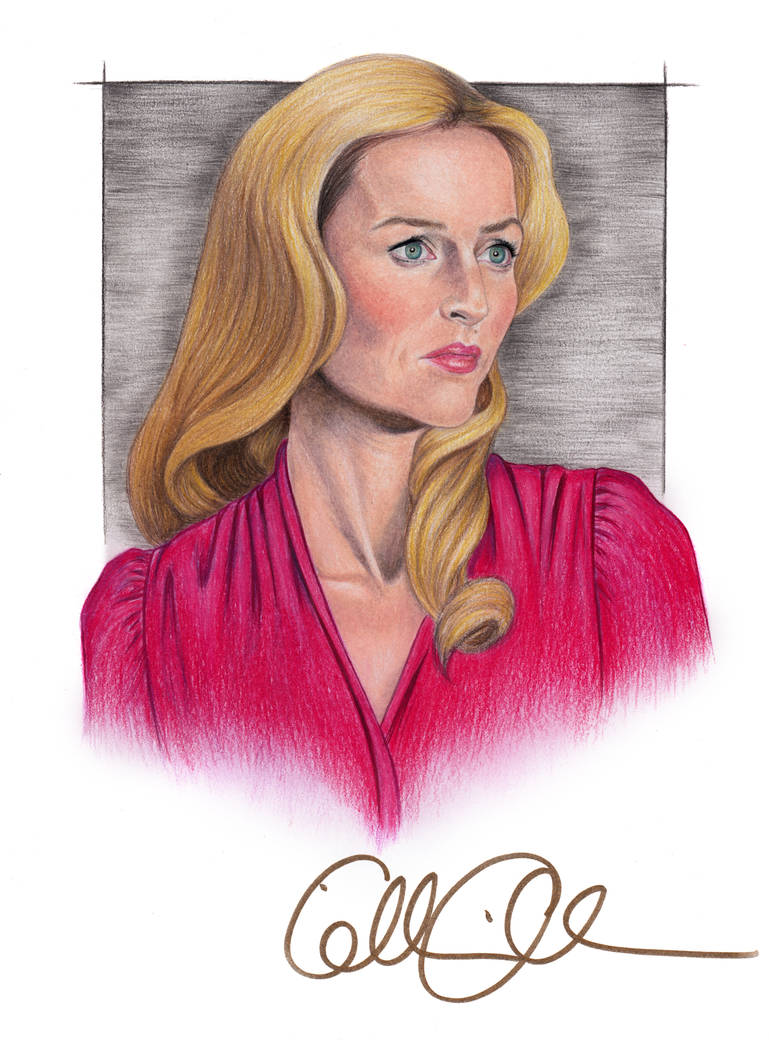 Gillian Anderson Portrait with Autograph by MattSimas