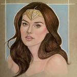 Gal Gadot as Wonder Woman Portrait Study