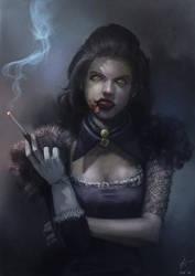 Vampire portrait by Grandfailure