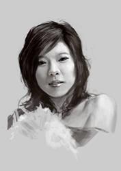 Cris Horwang's portrait 2 by Grandfailure