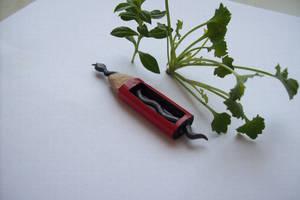 pencil carving sziisszzz the snake by cerkahegyzo