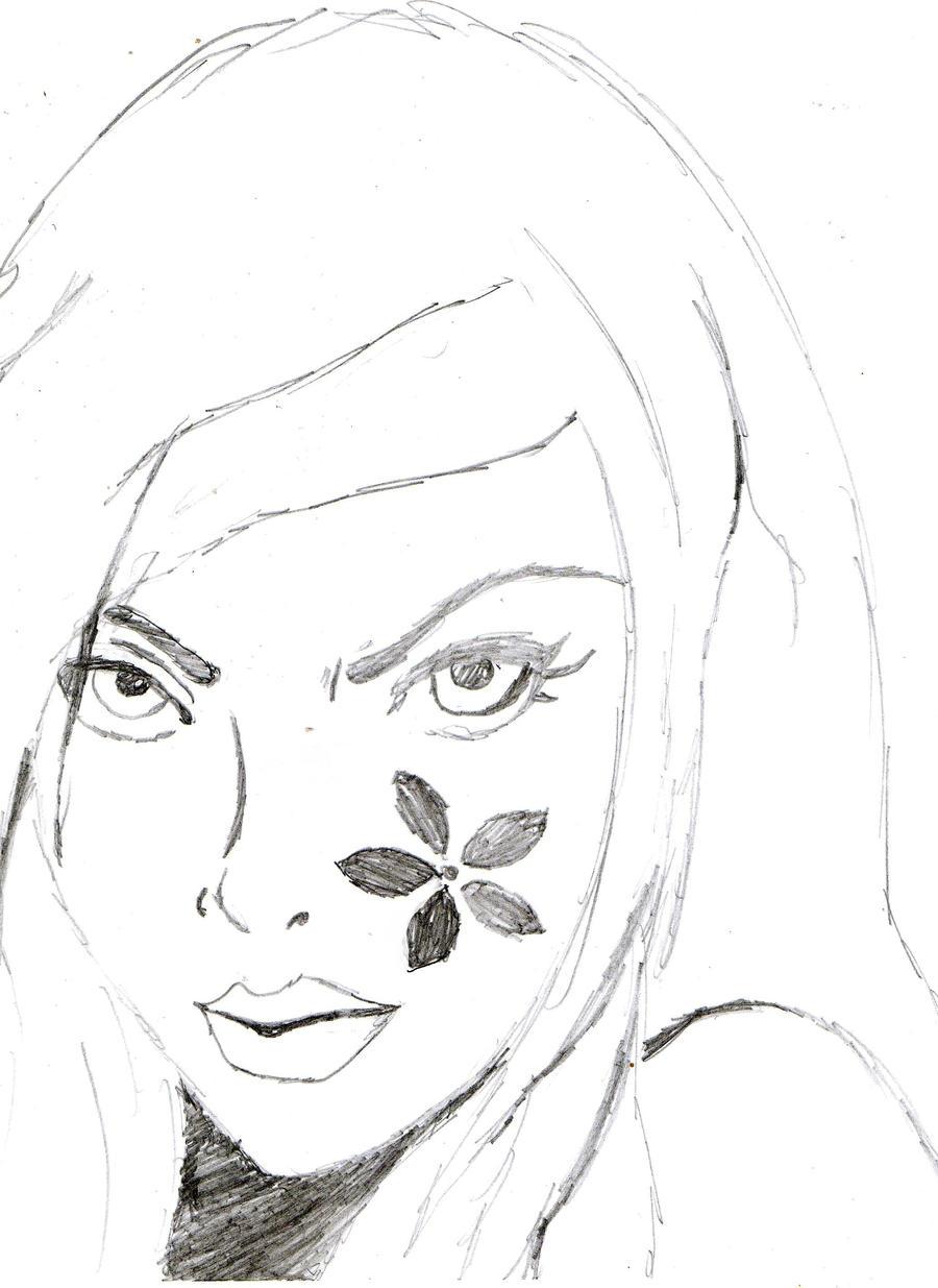 Line Art Woman : Line art woman by rouge the goth bat on deviantart