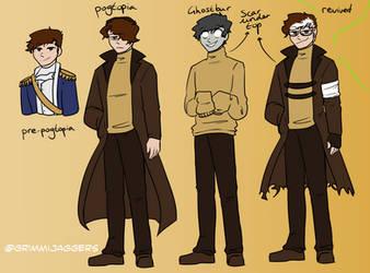 Wilbur-Ghostbur Character Designs