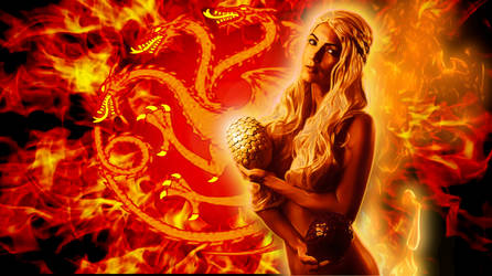 daenerys by ivy95 dd46b10-pre-Mother of dragons by gaia12es