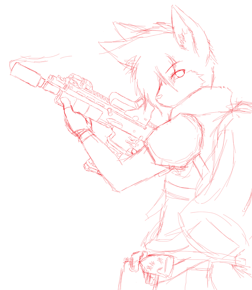 Sergeant red -sketch- by RedWolfXlll