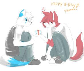happy B-day thomas by RedWolfXlll