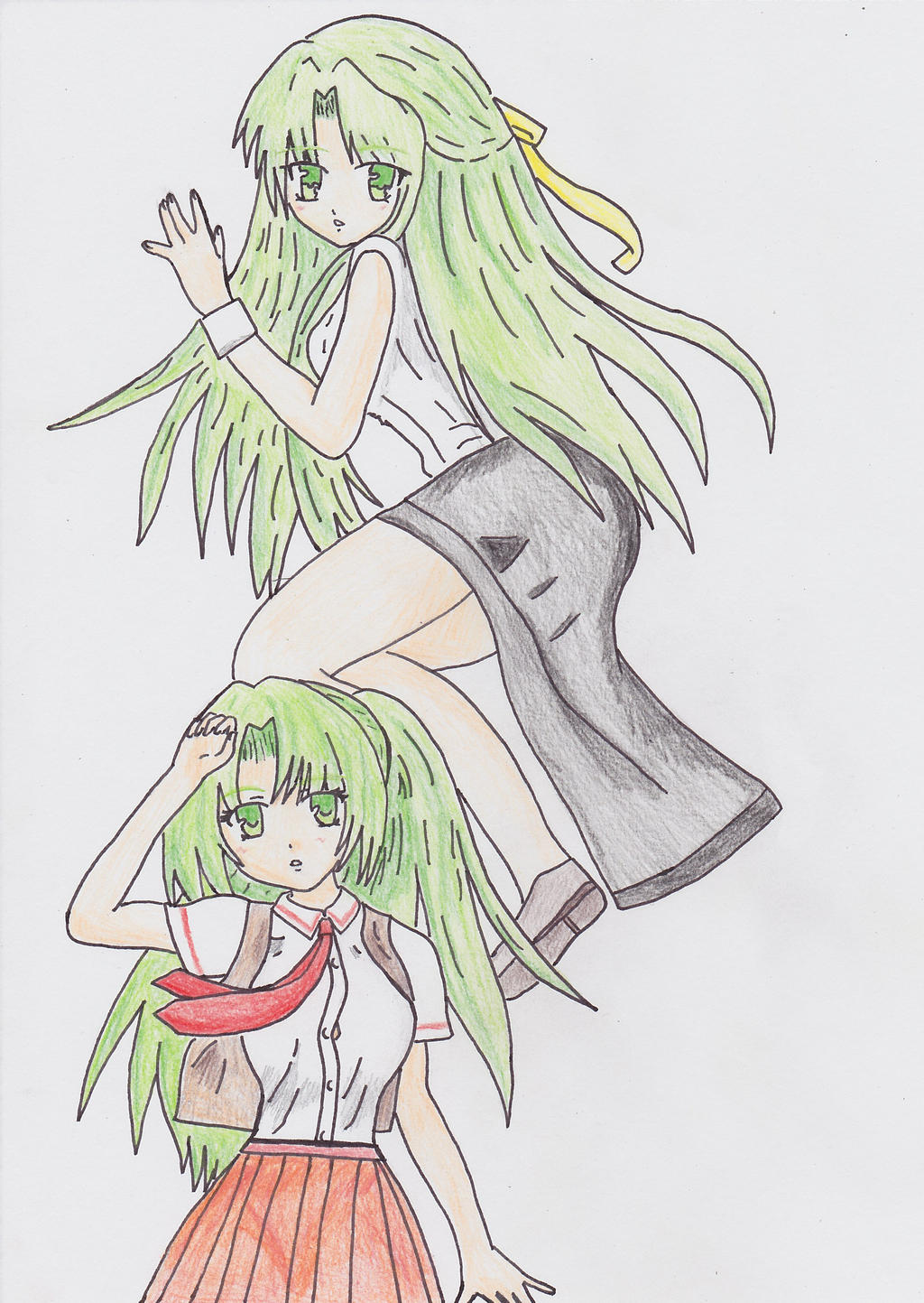 Sonozaki Twins by animequeenfreak
