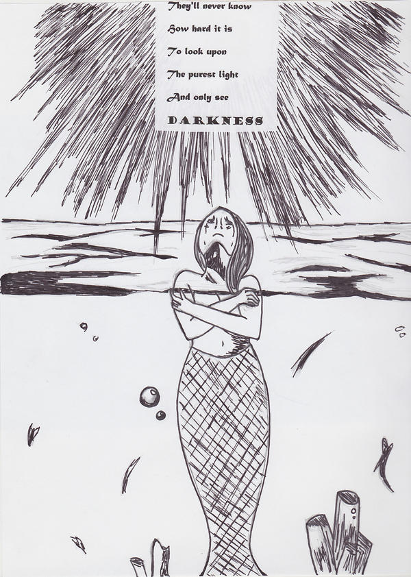 The Dark Mermaid by animequeenfreak