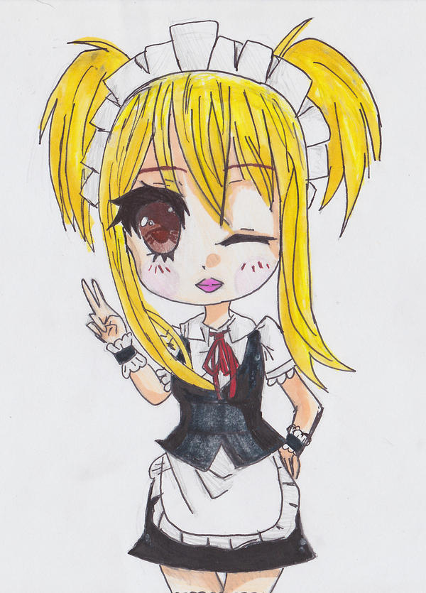 Lucy Heartfilia {Maid Girl} by animequeenfreak