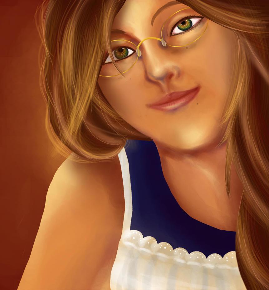 self portrait photoshop by Tiny-Owl