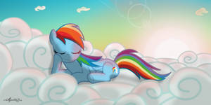 Rainbow Dash -Power nap-