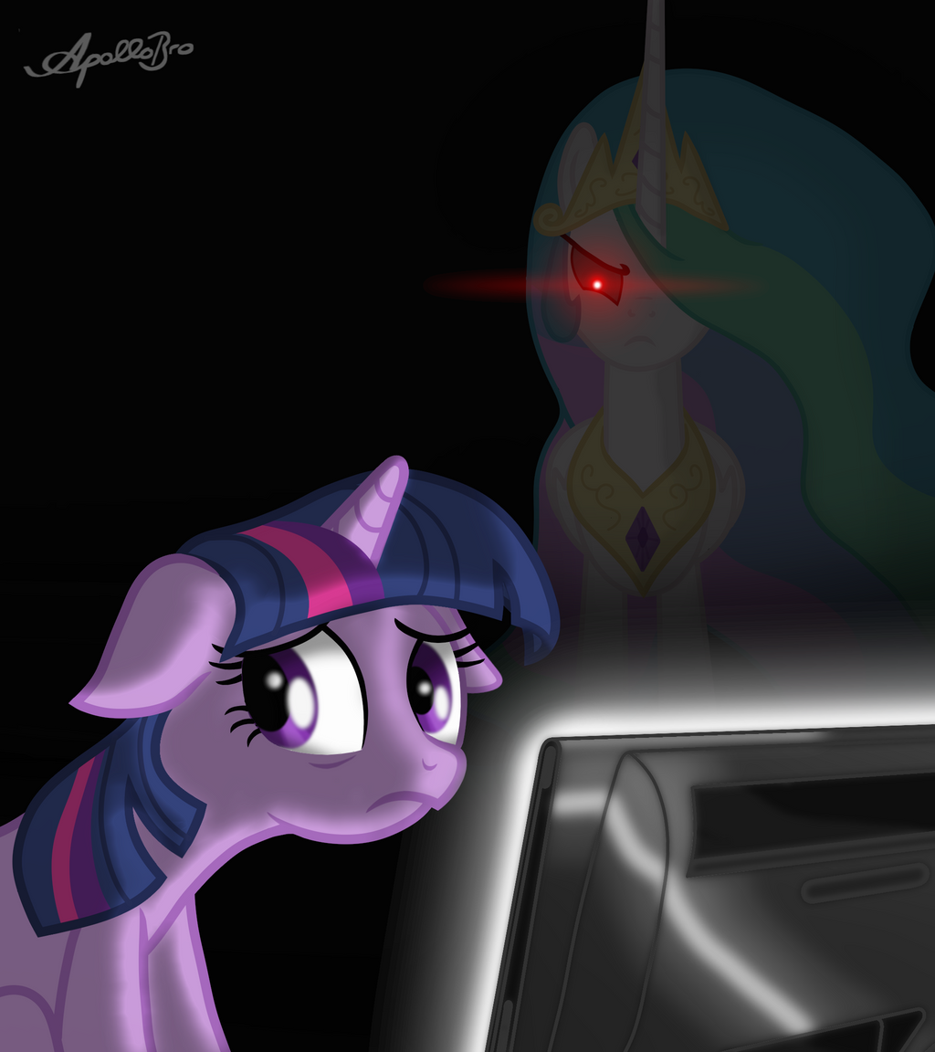 Twilight Sparkle -Not studying- by ApolloBroDA