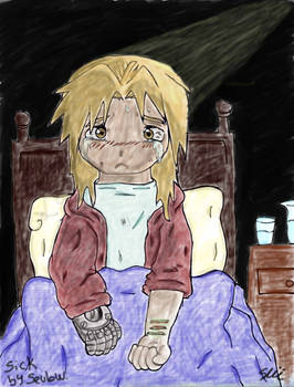 Edward Elric In the Fanfic of Sick By Sevlow
