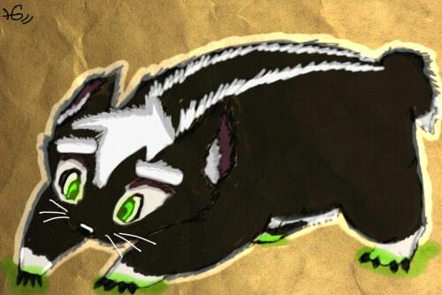 Fluffy Badger by Halfageist