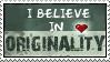 Originality stamp