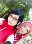 Sarada e sakura cosplay