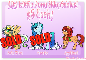 My Little Pony ADOPTS (PART 8) FOR SALE! ONE LEFT! by AddictionHalfWay