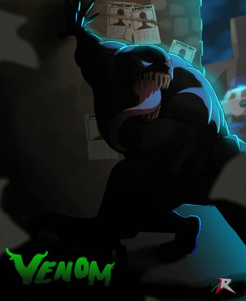 venom ( digital art ) by octoberfest2013