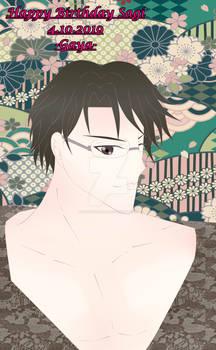 Birthday Art for Tamiko (Sagi)