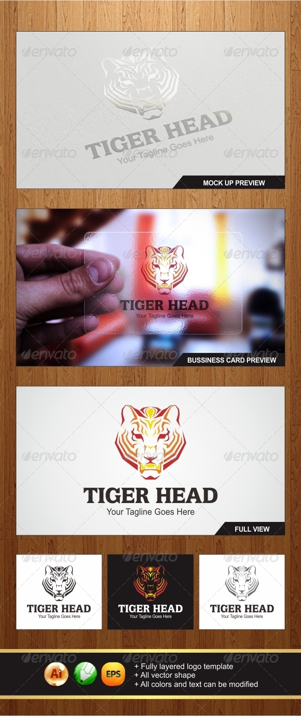 Tiger Head Logo Template - Graphicriver by Changyik