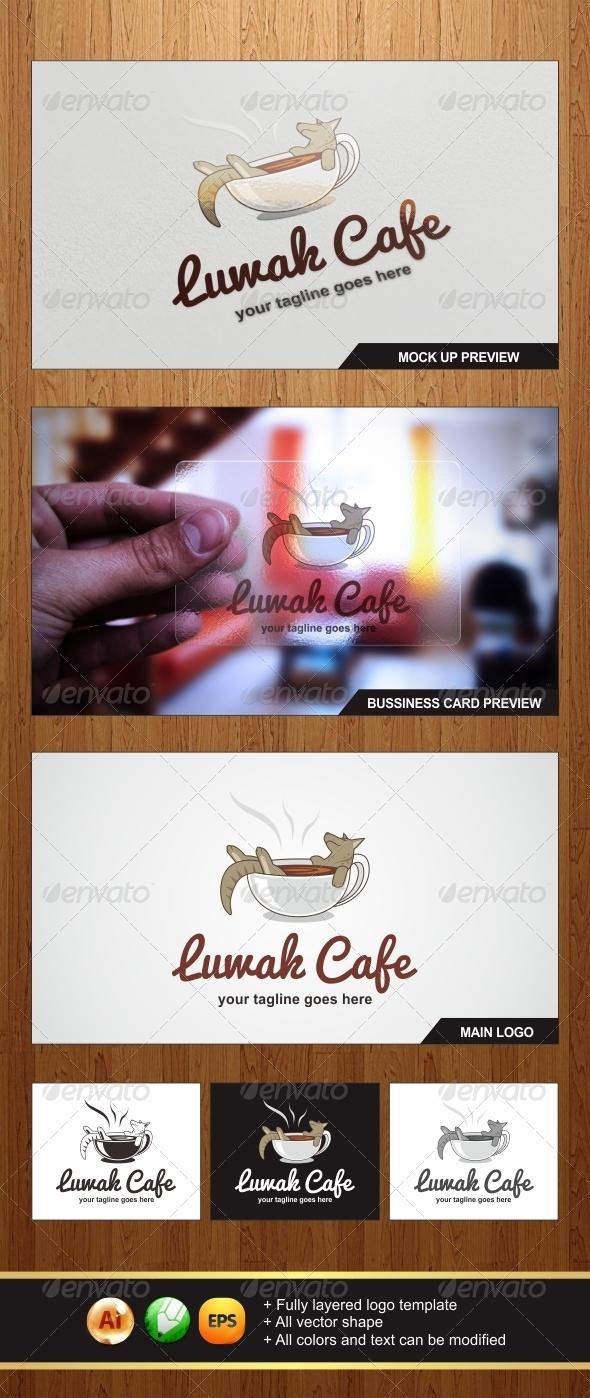 Luwak Cafe Logo Template - Graphicriver by Changyik