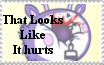 That Looks Like It Hurts Stamp by Flur-child