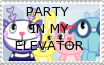 ELEVATOR PARTY STAMP by Flur-child