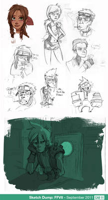 Sketch Dump - FFVII Special