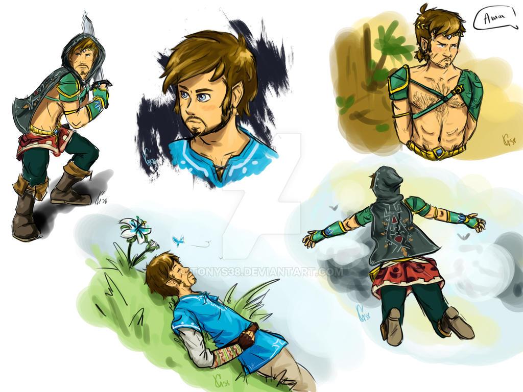 Killian Jnes as Link in Zelda: BotW by TonyS38