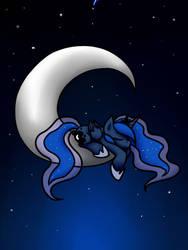 Sleeping on moon by Jadekettu