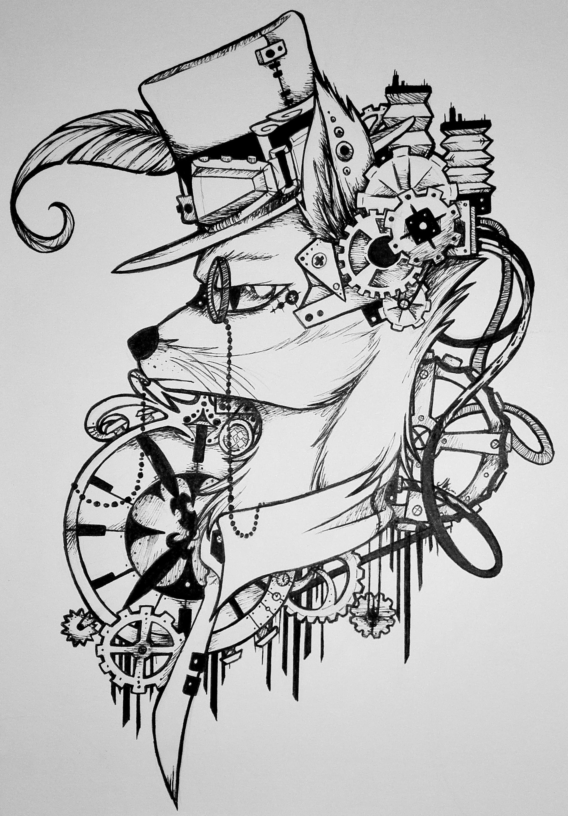 Steampunk Fox by Jadekettu on DeviantArt