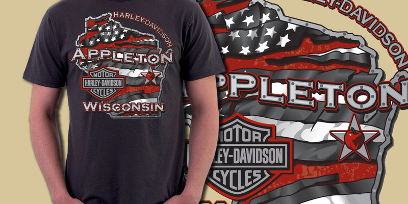 appleton wisconsin - harley davidson - tee graphicsunny84india