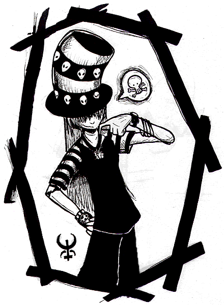 Think Morbid thoughts by FreakyLittleGirlClub