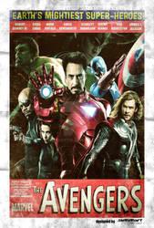 Vintage Avengers Movie Poster