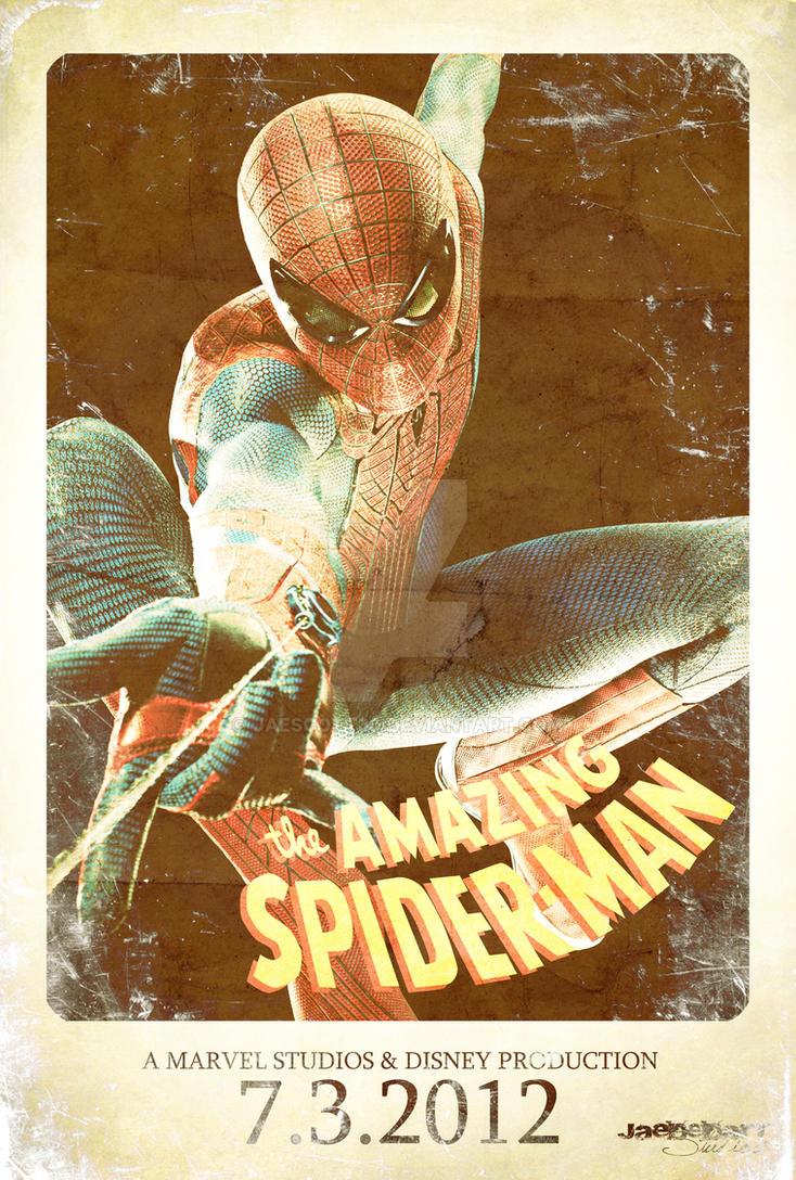 Vintage Amazing Spiderman Movie Poster By Jaescott30